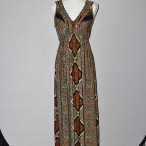 ONE WORLD Bohemian Maxi Dress Sz S